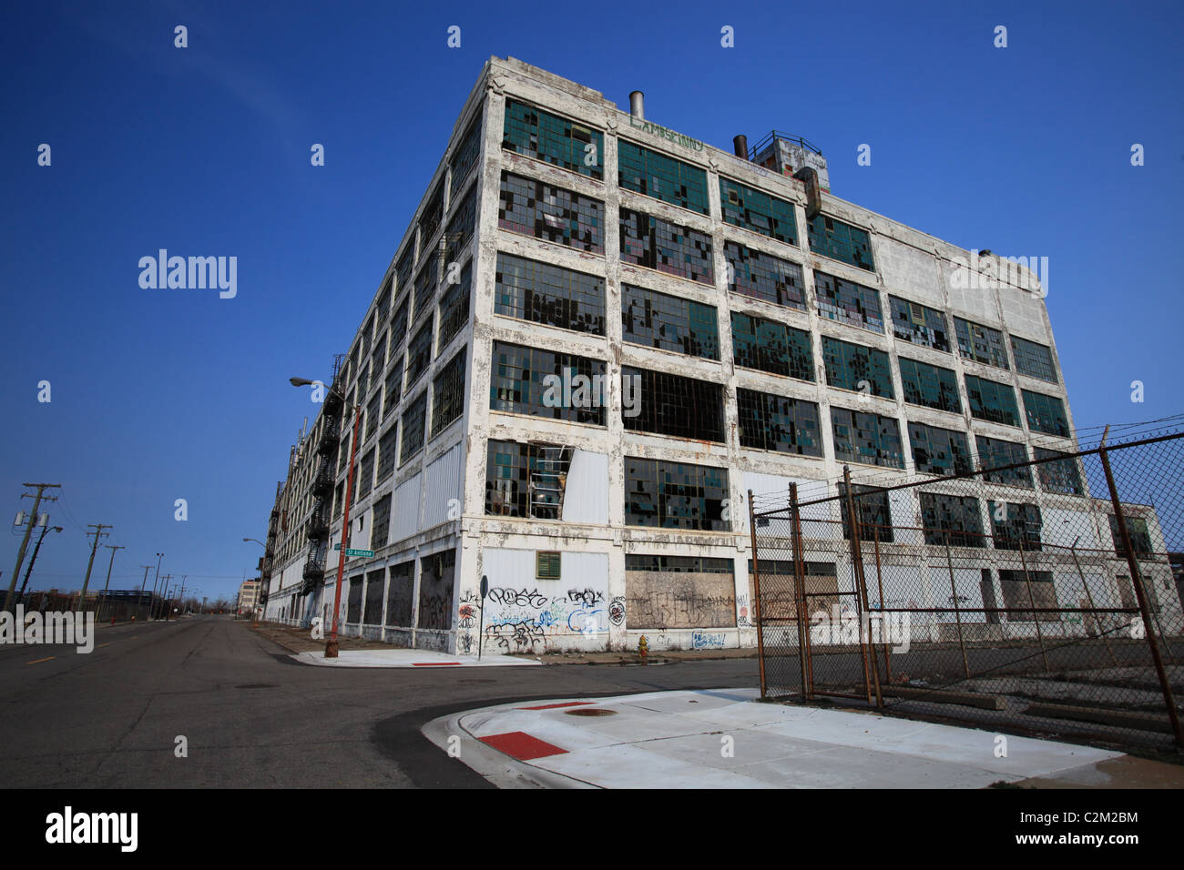 Abandoned Fisher Brothers automotive plant 21 in Detroit Michigan 2011 - Stock Image