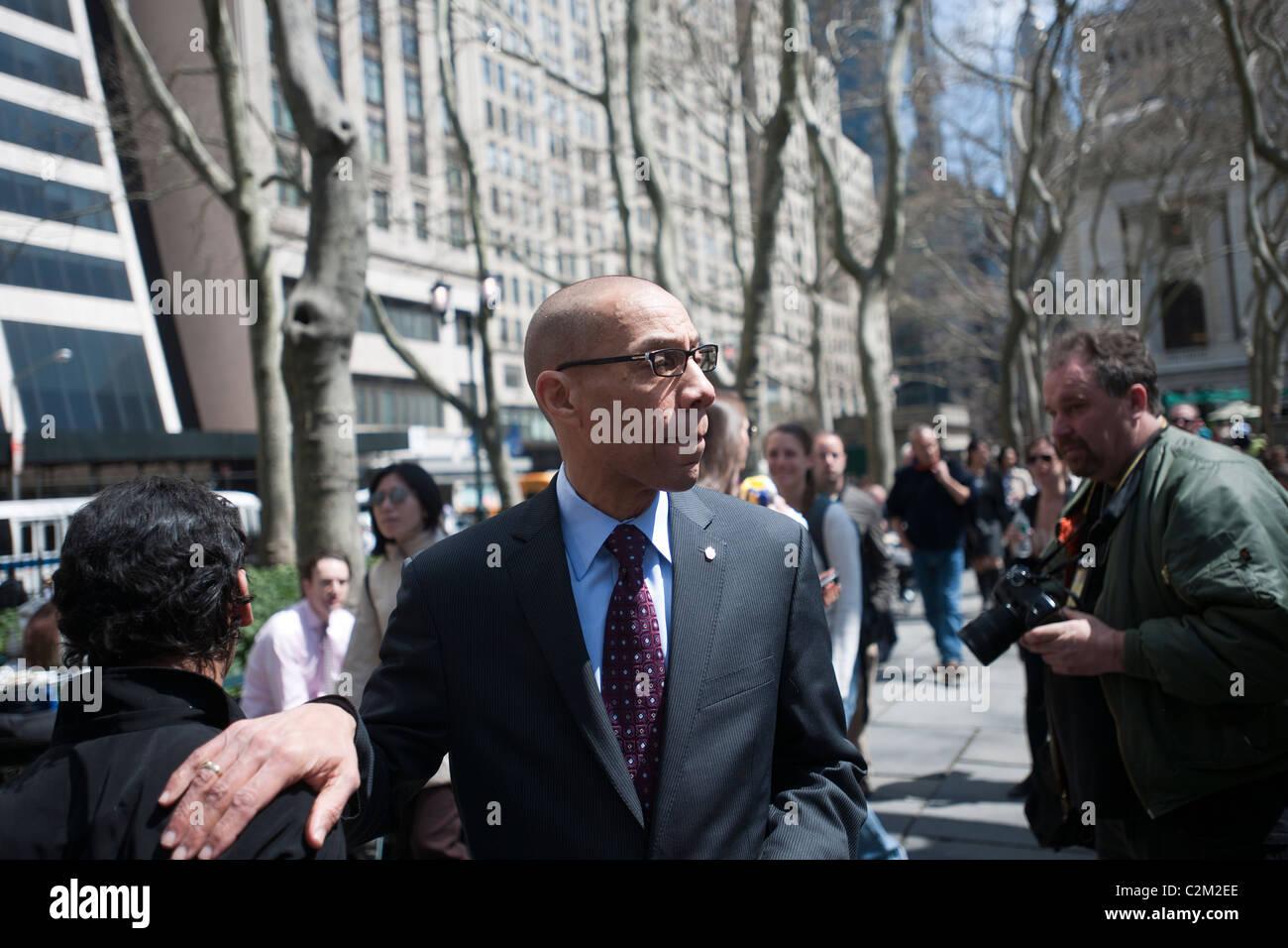 New York City Dept. of Education Chancellor Dennis Walcott - Stock Image