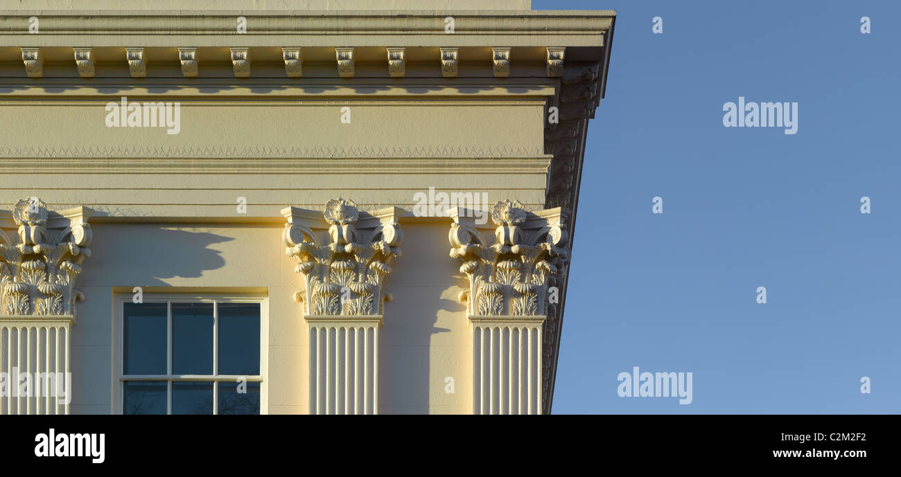 Window and column detail, Regents Park, London. Stock Photo