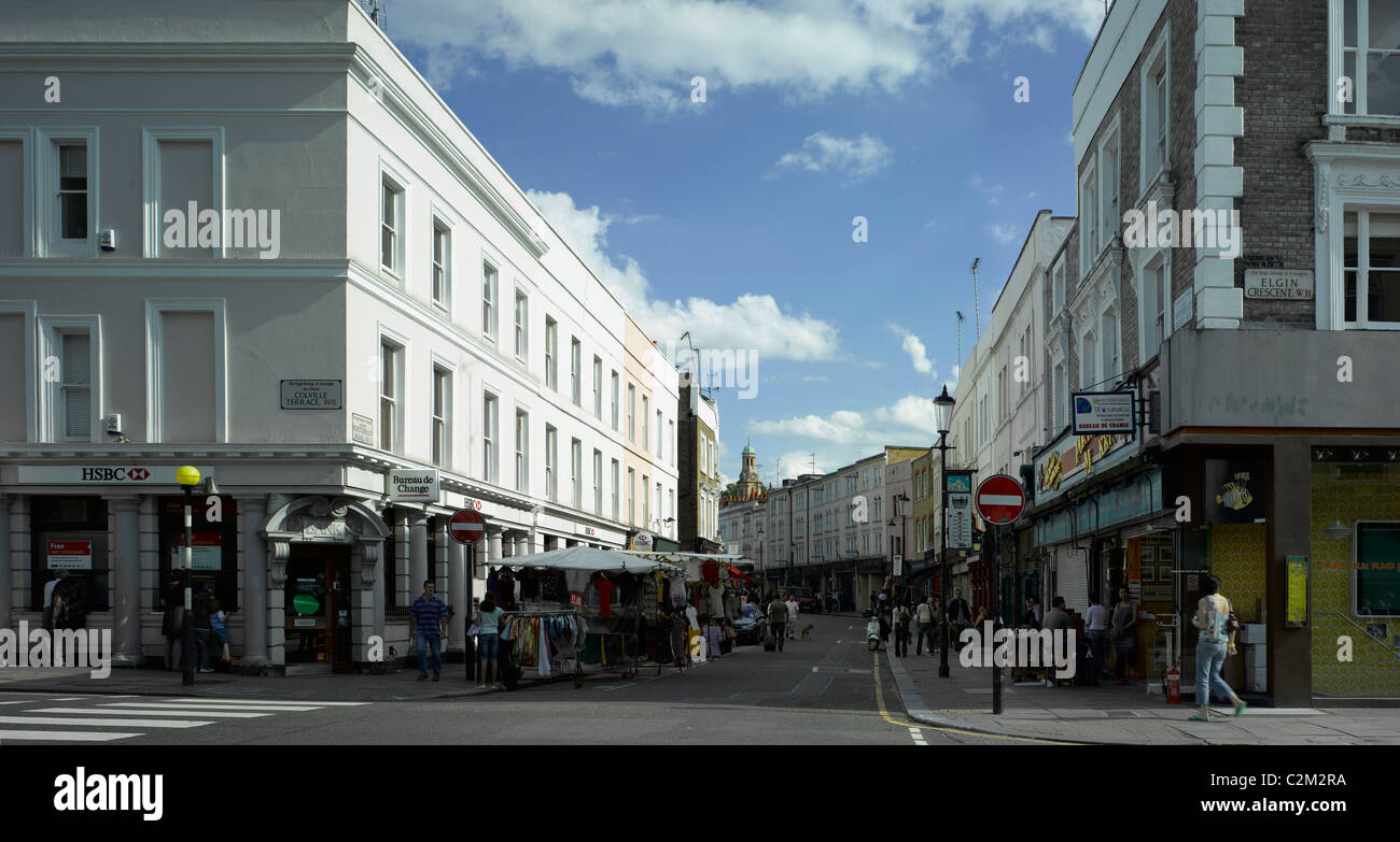 Portobello Road, Notting Hill, London. - Stock Image