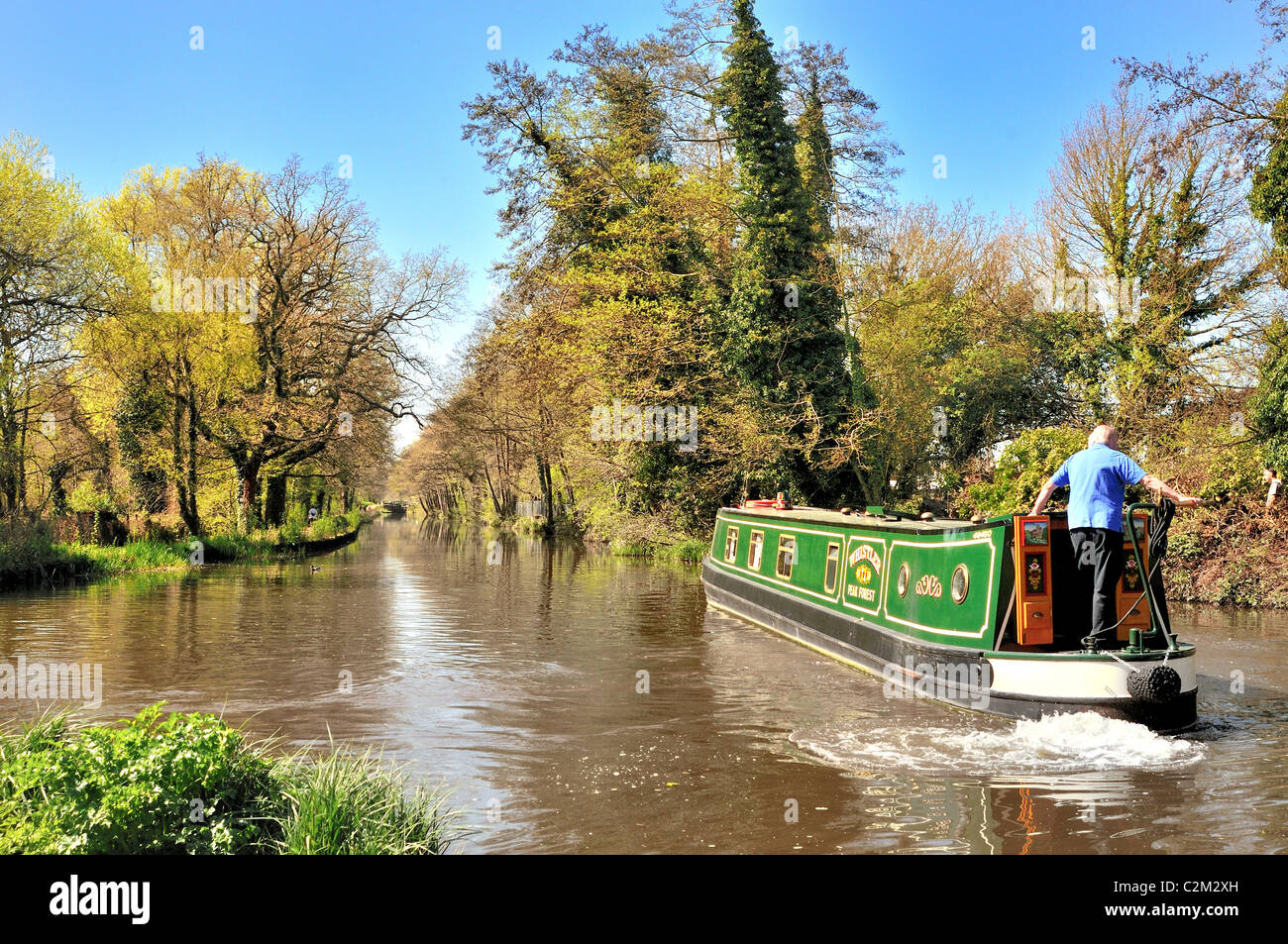 River Wey navigation and Basingstoke Canal at New Haw ,Surrey - Stock Image
