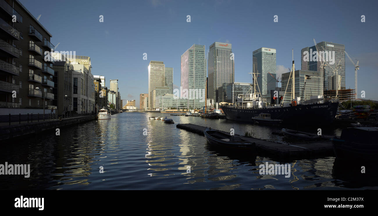 West India Millwall Dock, Canary Wharf, Docklands, London. - Stock Image