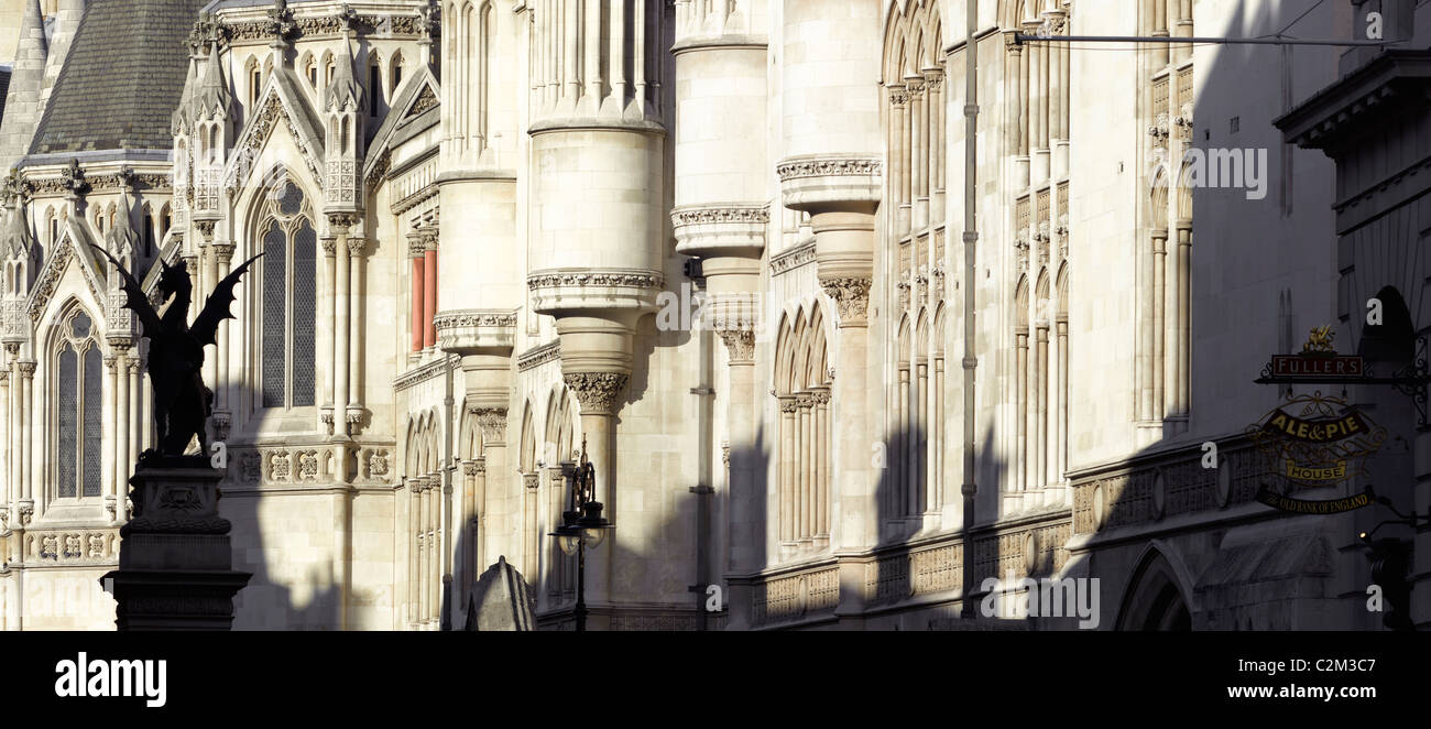 Royal Courts of Justice, The Strand, London. Stock Photo
