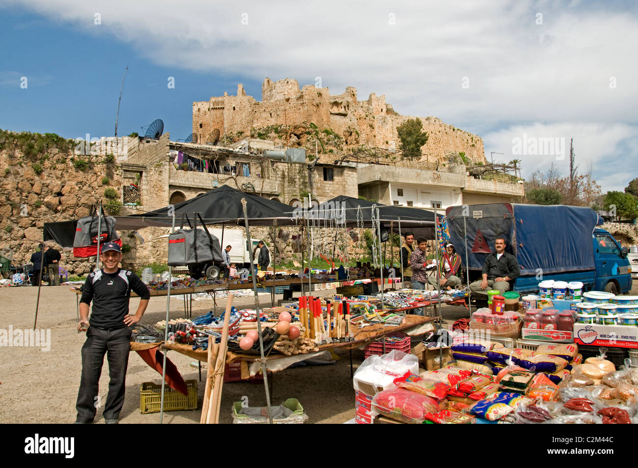 Qalaat Misyaf Castle Assassin Castles Syria Syrian Middle East - Stock Image