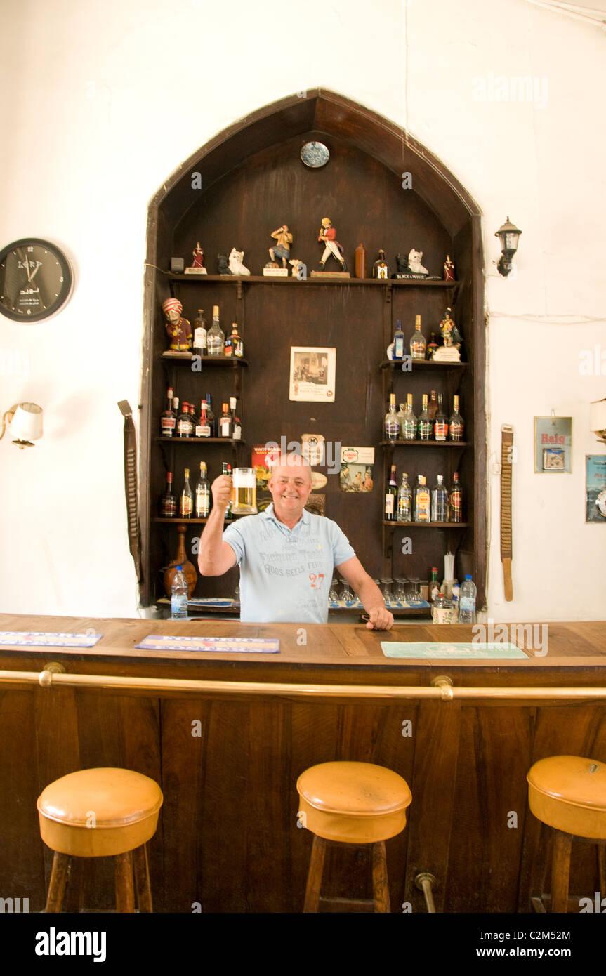 Hotel Baron Aleppo Bar Pub Syria Syrian Middle East - Stock Image