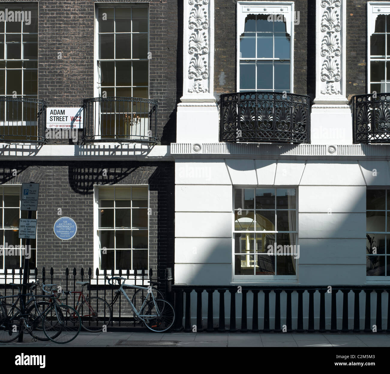 Adam Street, London. - Stock Image