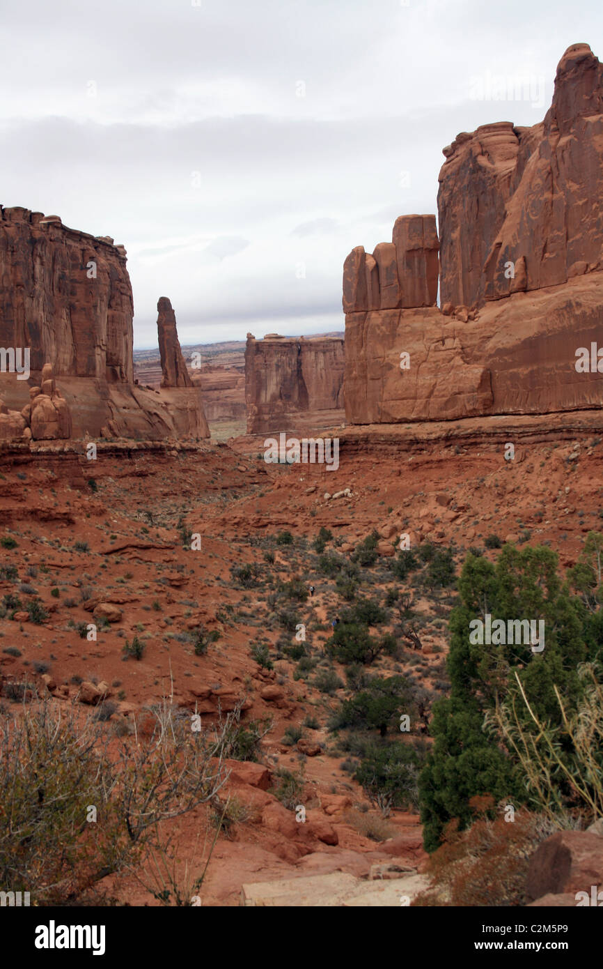 PARK AVENUE & COUTHOUSE TOWERS ARCHES NATIONAL PARK USA 10 November 2010 - Stock Image