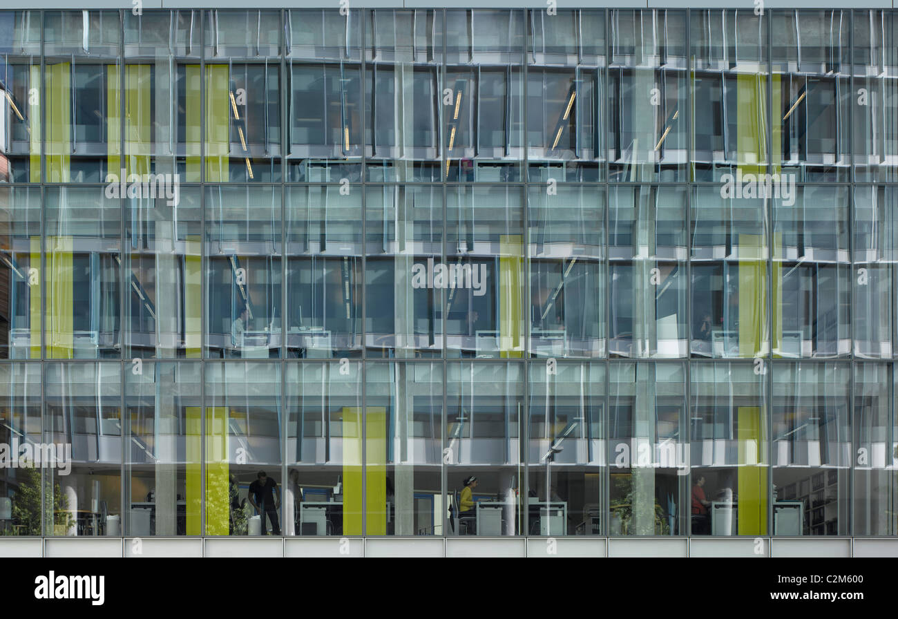 Allies and Morrison Architects own offices facade, Southwark, London. - Stock Image