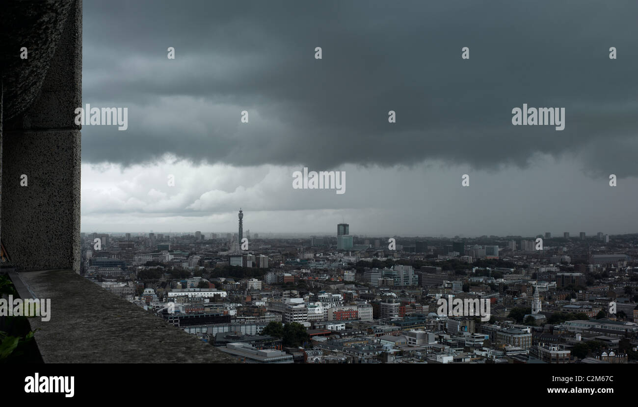 London skyline - Weather front approacing - Stock Image