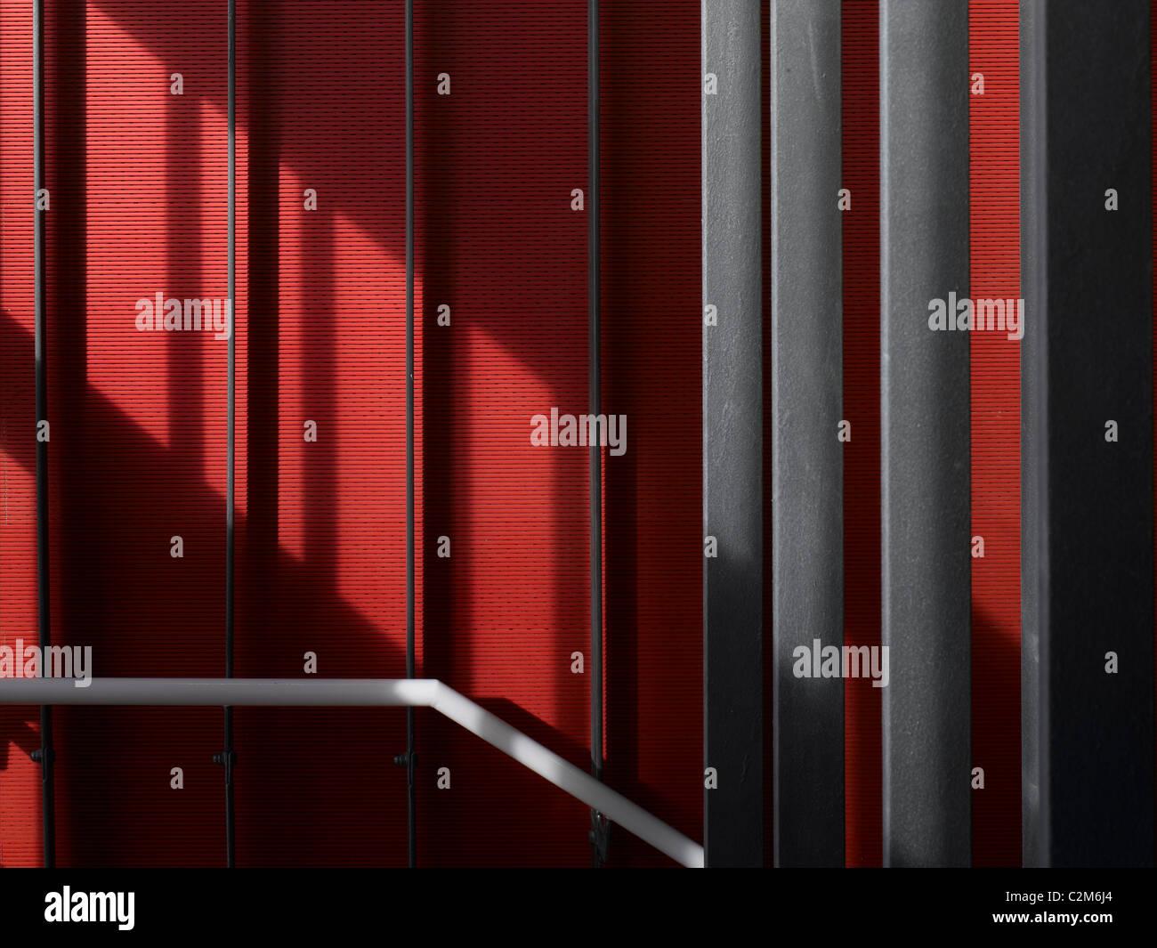 Siobhan Davies Dance Studios, London, 2006. Detail of hanging staircase. - Stock Image