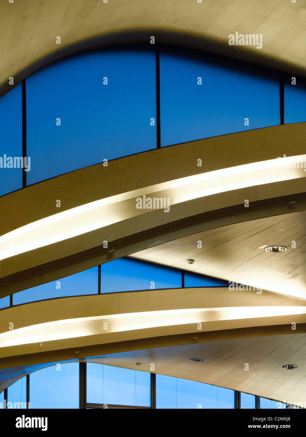 Siobhan Davies Dance Studios, London, 2006. Detail of ribbon roof. - Stock Image
