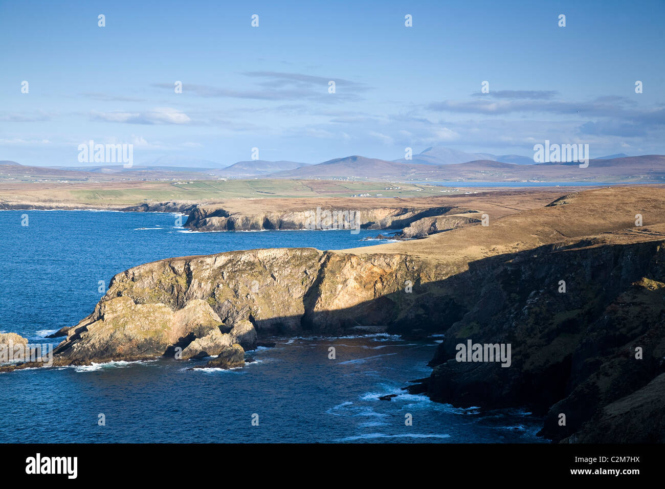 Coastline near Erris Head, Belmullet Peninsula, County Mayo, Ireland. - Stock Image