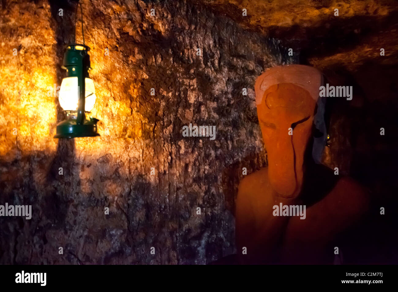 BUDA CASTLE LABYRINTH and the various works of art that can be found within it Stock Photo
