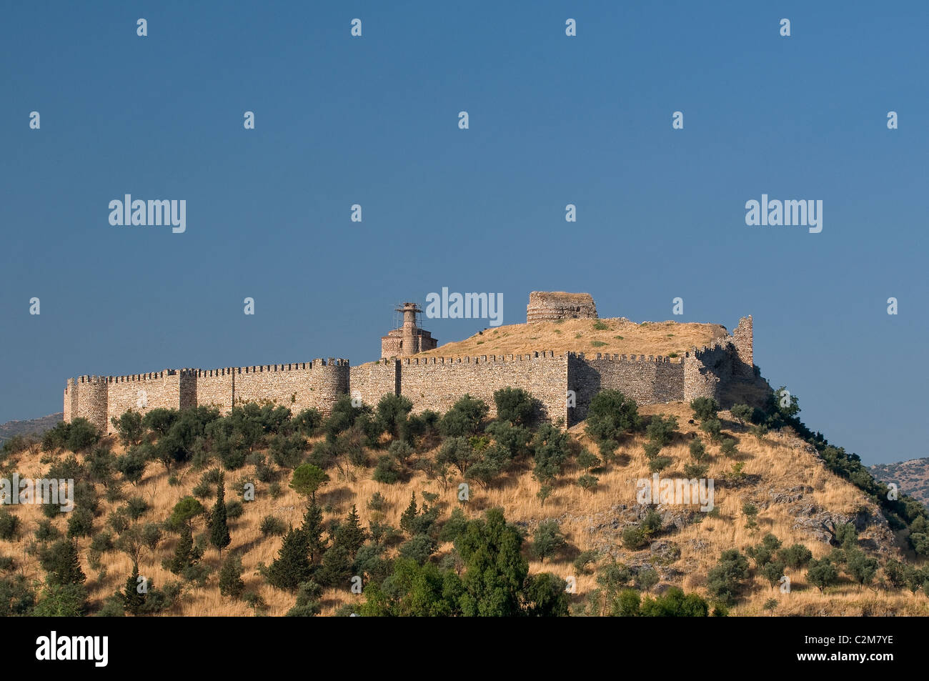 Historical Selcuk Castle Izmir Turkey - Stock Image