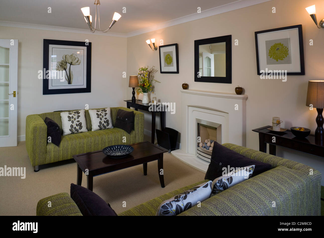 Mews Style Houses, Misterton and Retford, Nottinghamshire Stock Photo