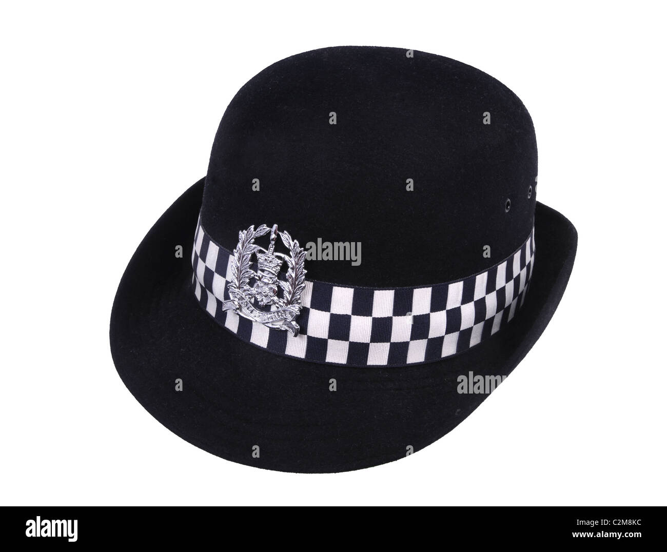 A felt cap as issued to British female police officers. This example is badged to Hampshire Constabulary. - Stock Image