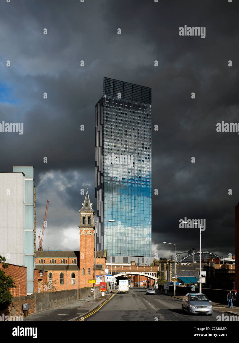 Hilton Hotel Tower, 303 Deansgate, Manchester. - Stock Image