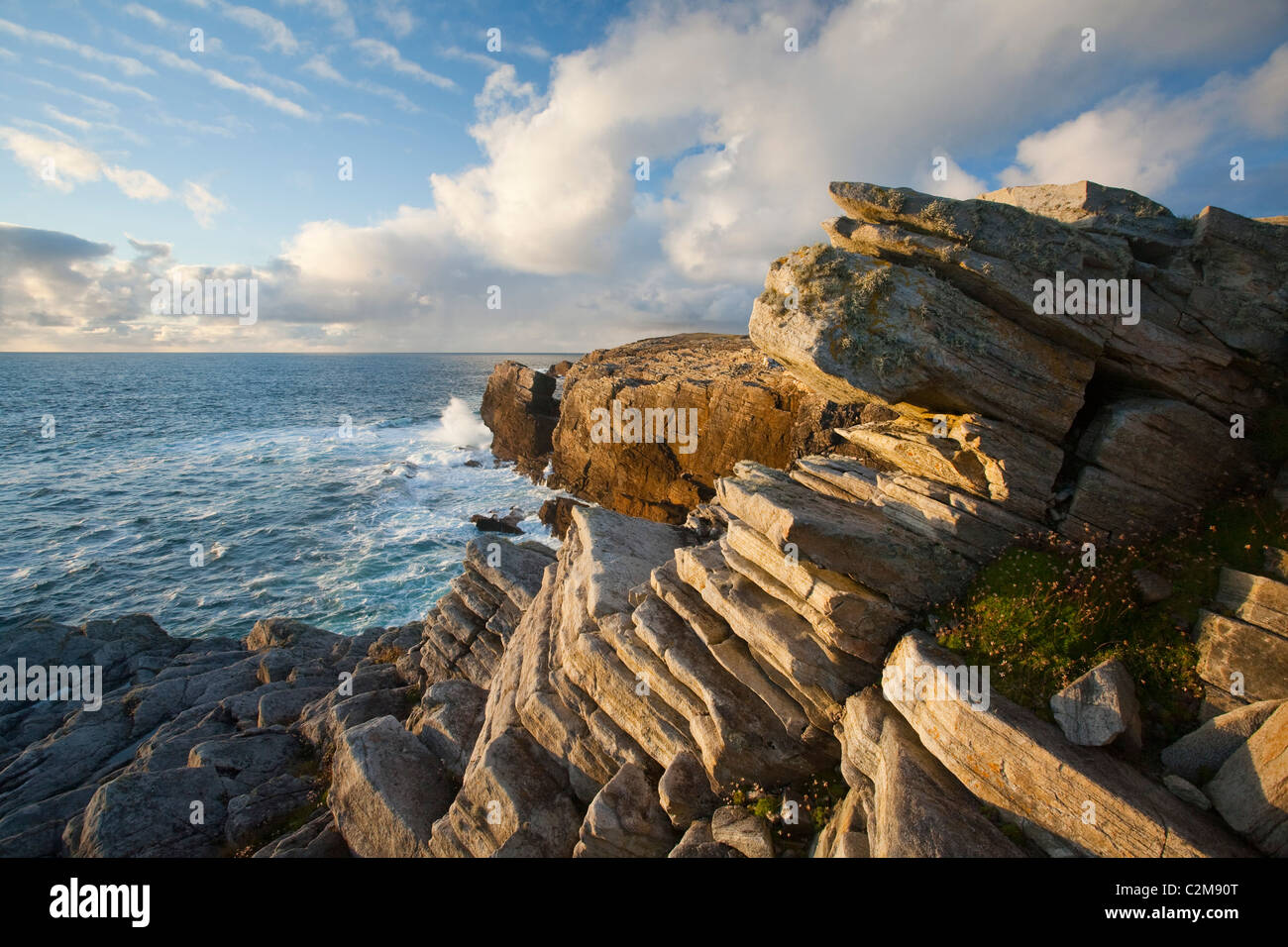 Rocky coastline of the Belmullet Peninsula, County Mayo, Ireland. - Stock Image