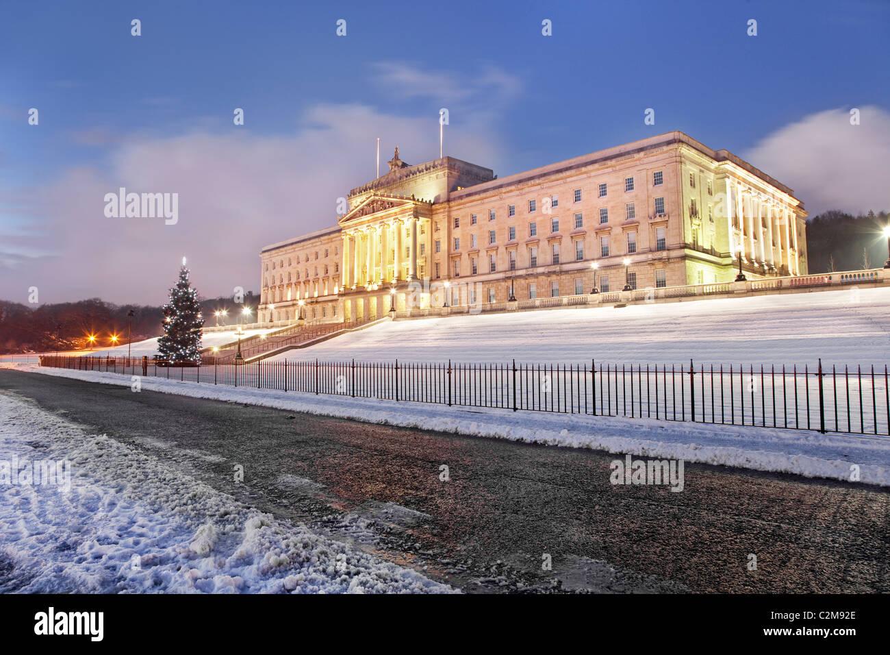 Stormont parliament buildings in Belfast, Northern Ireland. - Stock Image