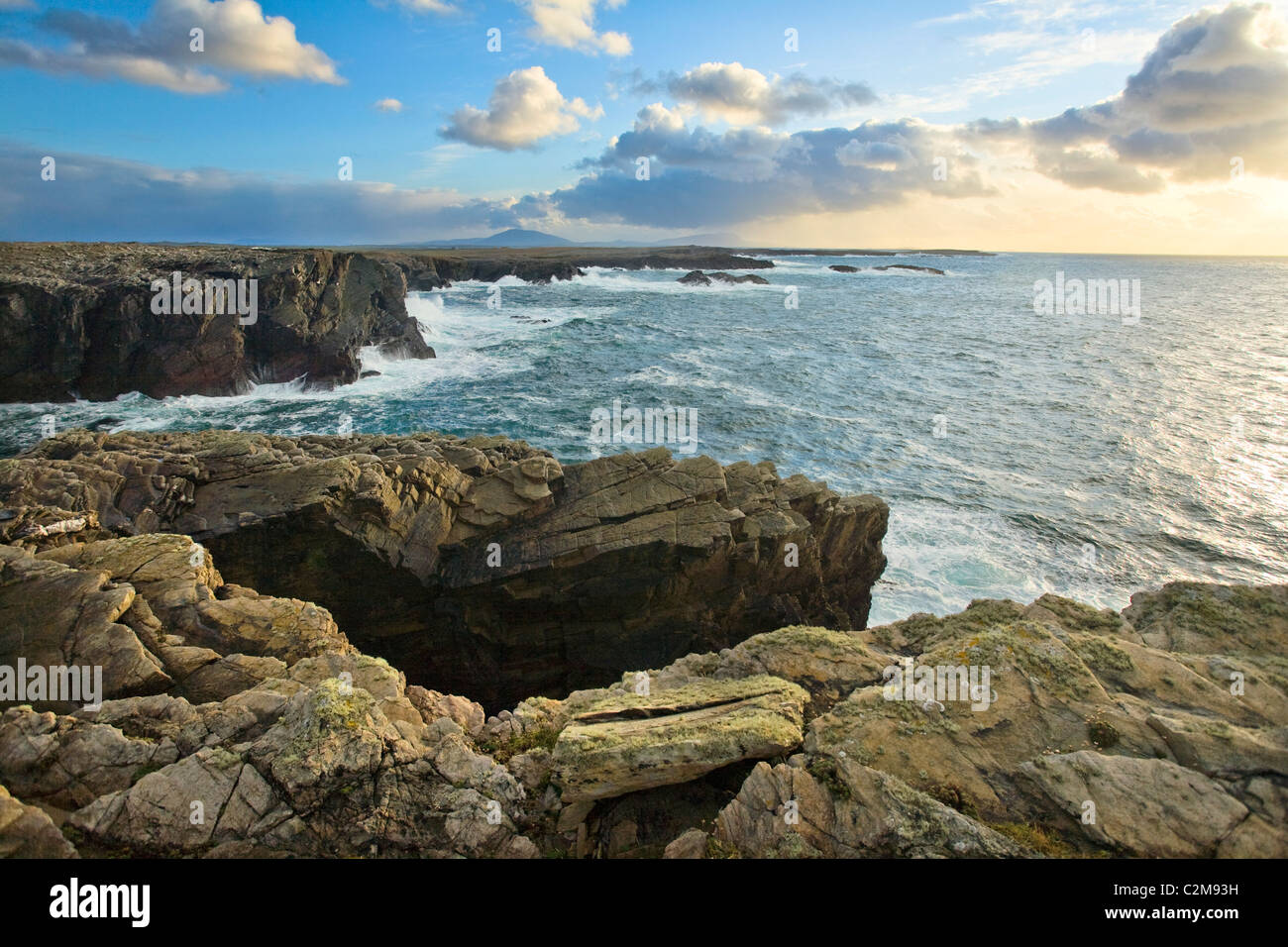 Belmullet coastline near Erris Head, County Mayo, Ireland. - Stock Image
