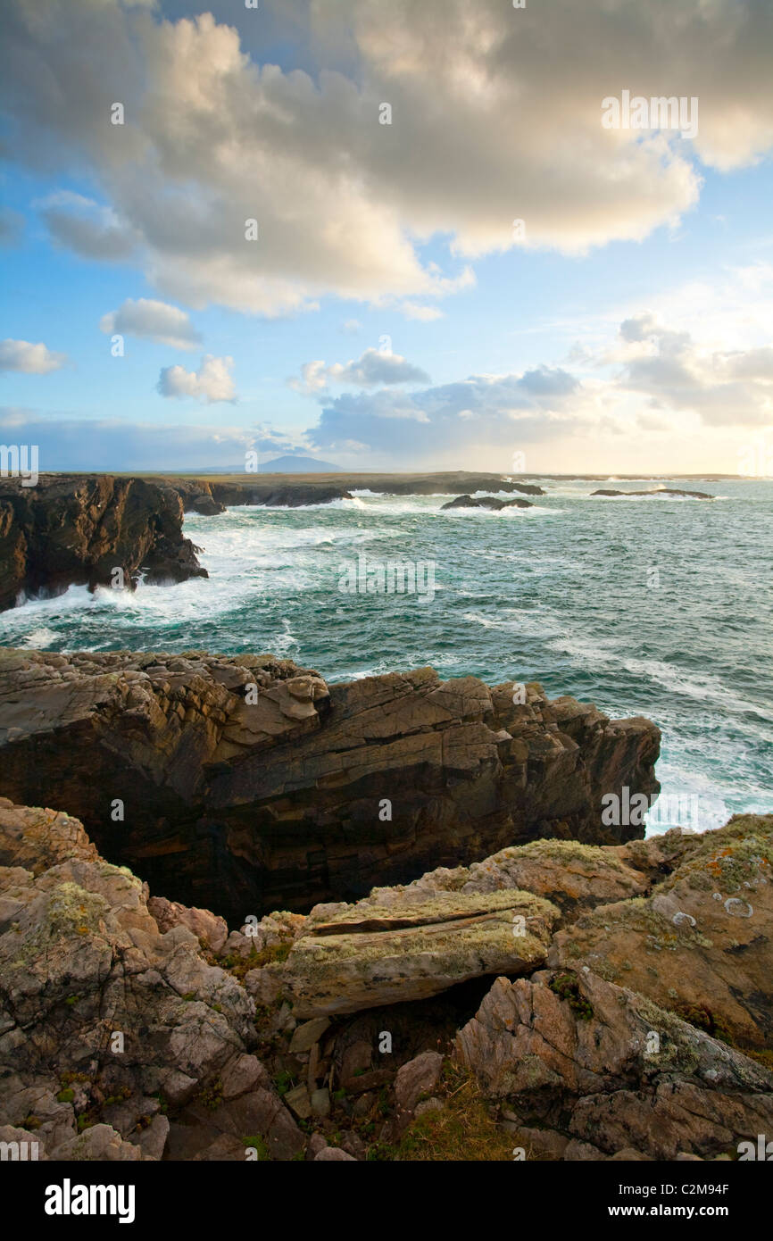 The Belmullet coastline near Erris Head, County Mayo, Ireland. - Stock Image