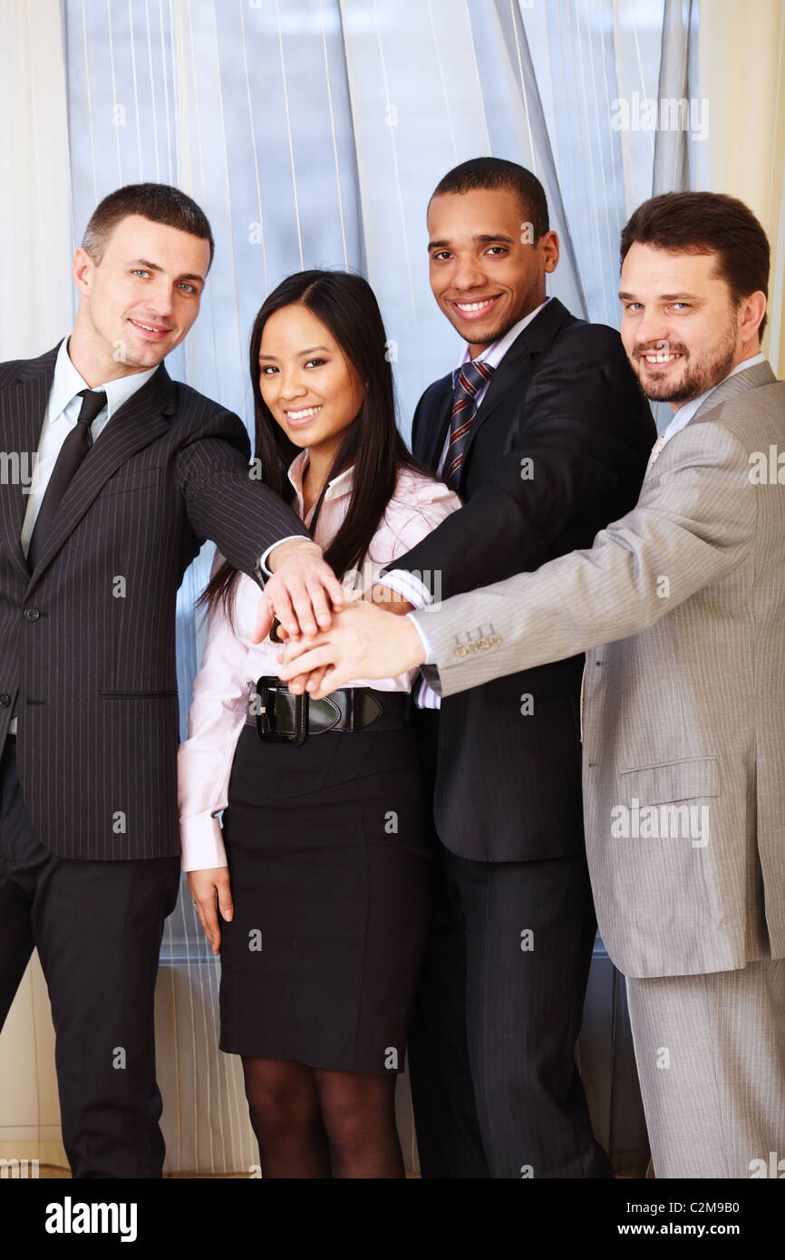 Portrait of a multi ethnic business team. - Stock Image