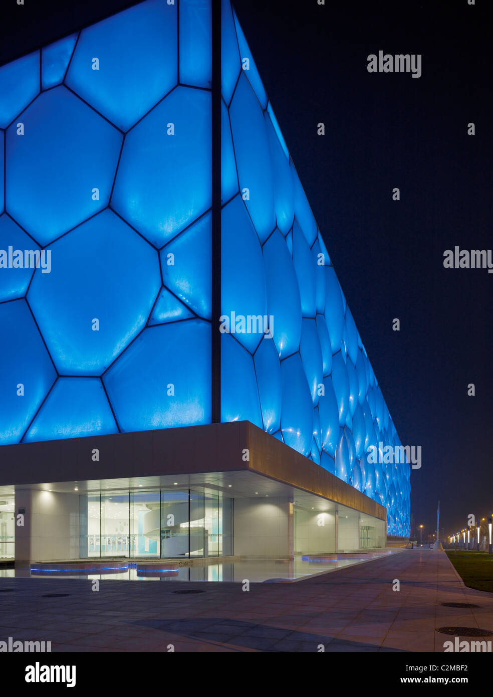 National Aquatics Center, Beijing, China - The Water Cube. PTW Architects, Arup, CSCEC and CCDI. Stock Photo