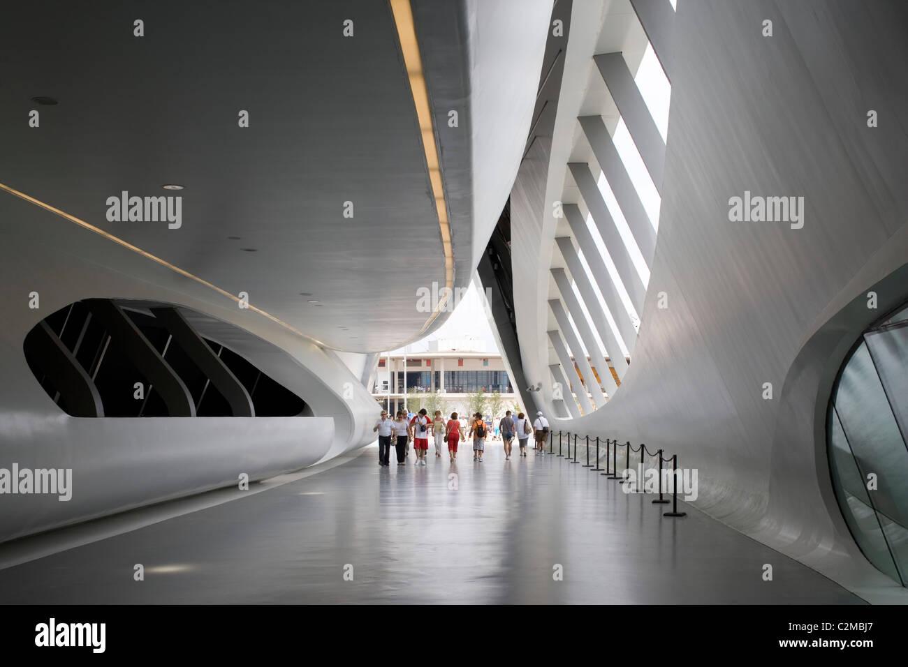 Bridge Pavilion, Expo Zaragoza 2008, Zaragoza. - Stock Image