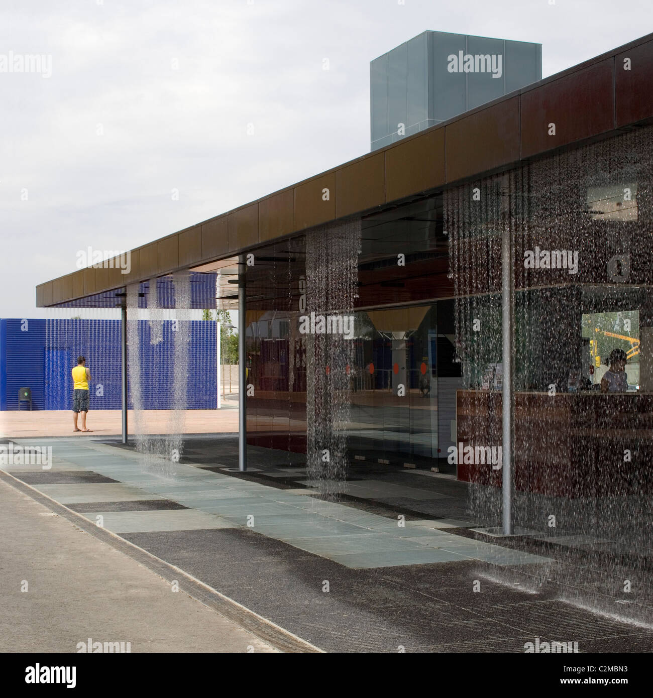 Digital Water Pavilion, Expo Zaragoza 2008, Zaragoza. - Stock Image