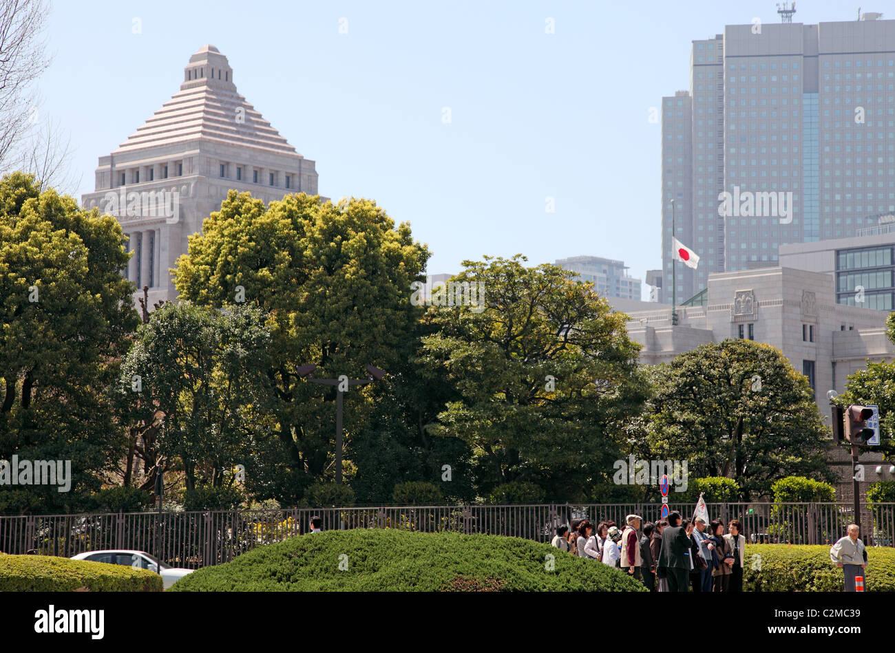 Diet Building Tokyo Japan Stock Photo