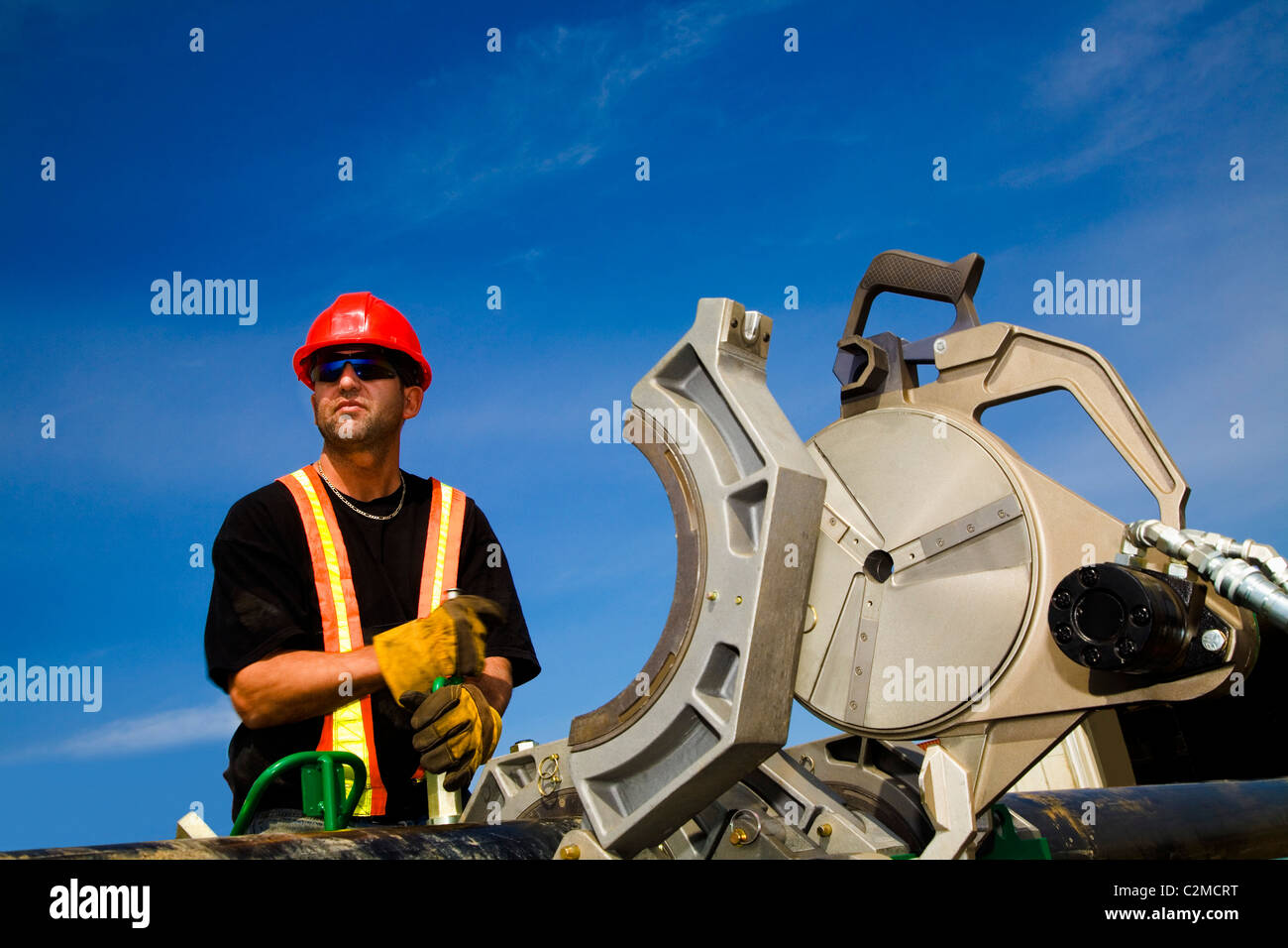 A Workman On Site - Stock Image