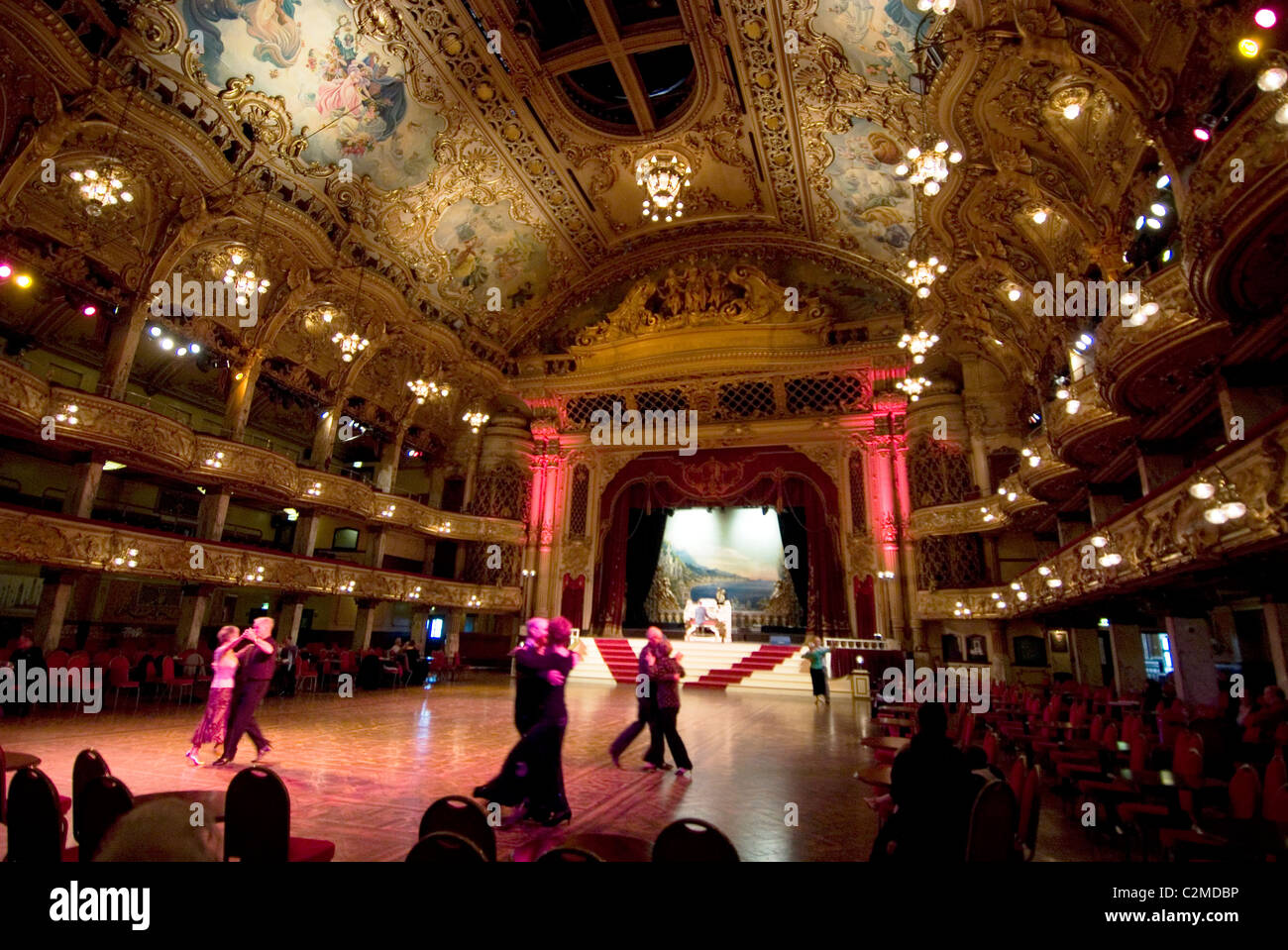 The Tower Ballroom, opened as a roller skating rink but changed to a dance venue in the 1920s, Blackpool, England Stock Photo