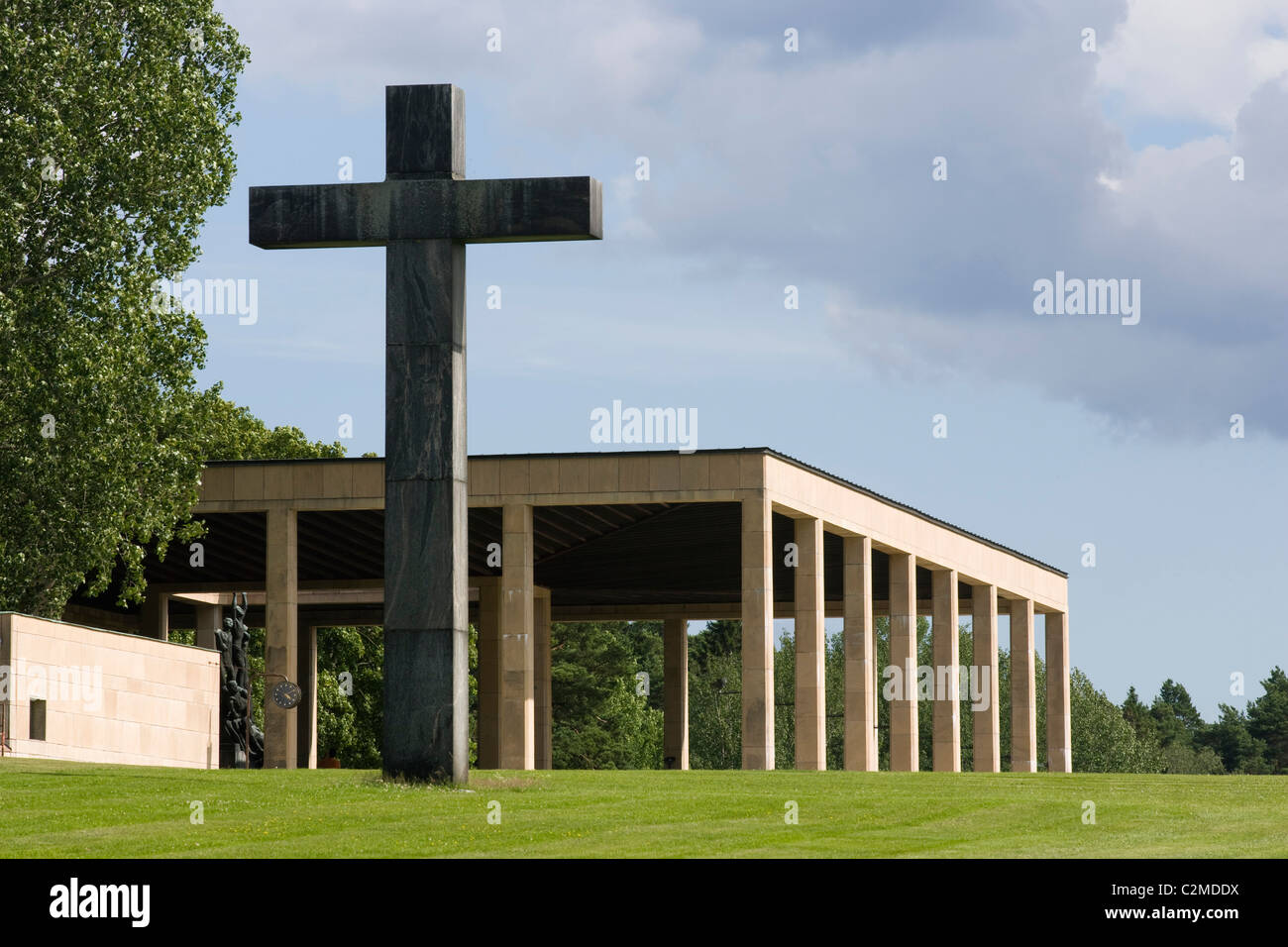 Chapel of the Holy Cross, The Woodland Crematorium, The Woodland Cemetery (Skogskyrkogarden), Stockholm. - Stock Image