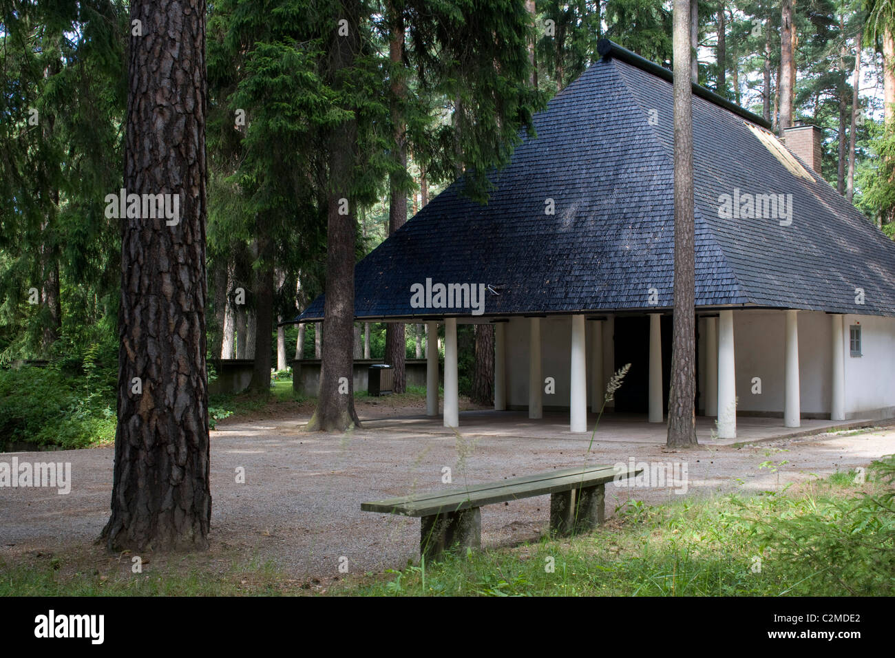 The Woodland Chapel, The Woodland Cemetery (Skogskyrkogarden), Stockholm. - Stock Image
