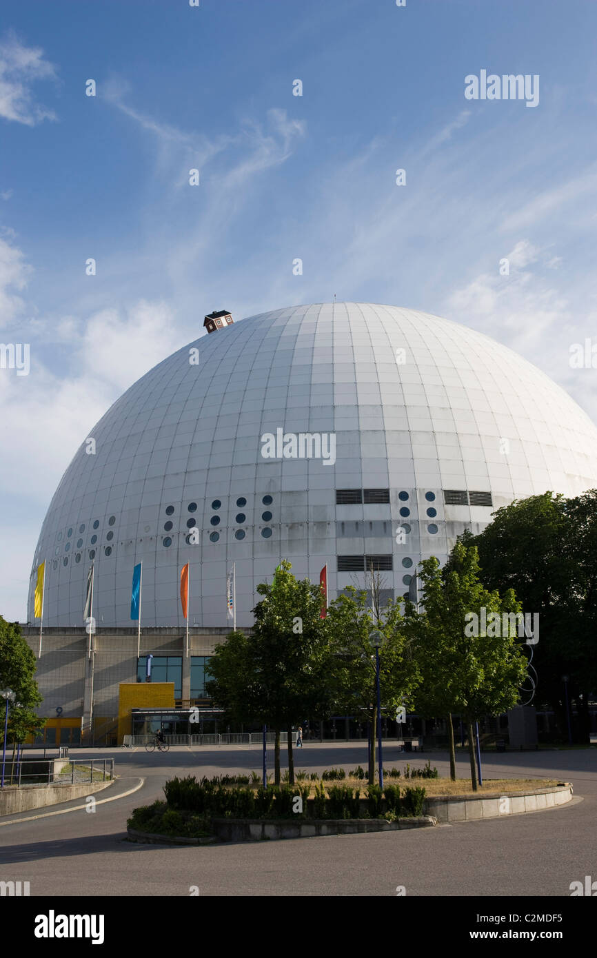 The Ericsson Globe (AKA The Stockholm Globe Arena or Globen), Stockholm. Stock Photo