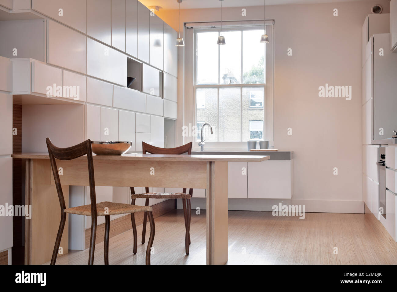 Redesigned apartment, Chelsea. - Stock Image