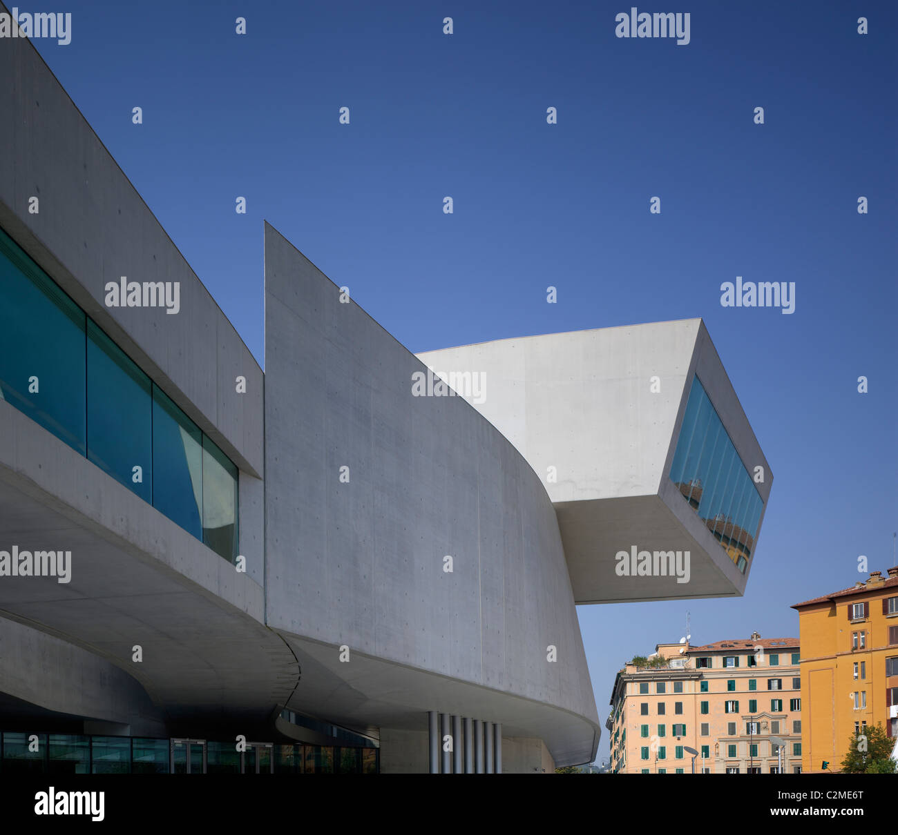 The MAXXI, National Museum of 21st Century Arts, Rome. - Stock Image