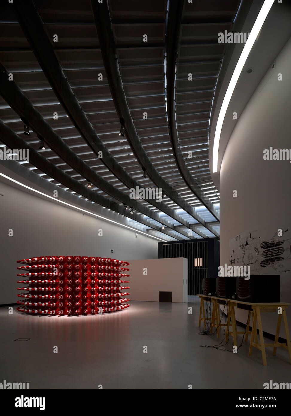 Exhibits at the MAXXI, National Museum of 21st Century Arts, Rome. - Stock Image