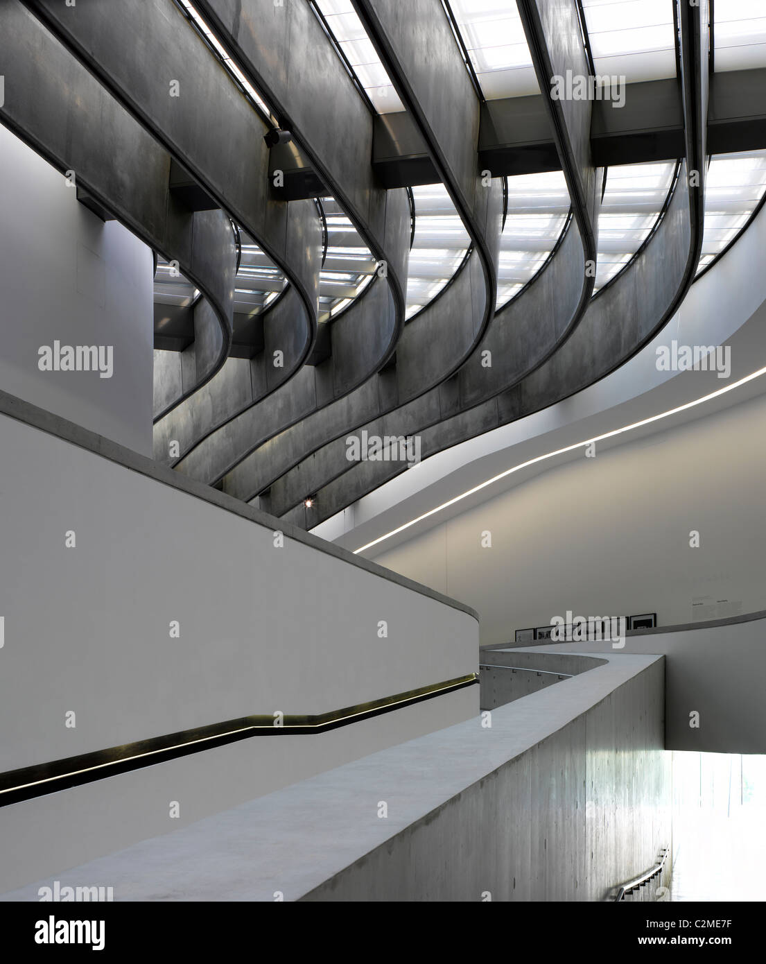 Architectural forms at the MAXXI, National Museum of 21st Century Arts, Rome. - Stock Image