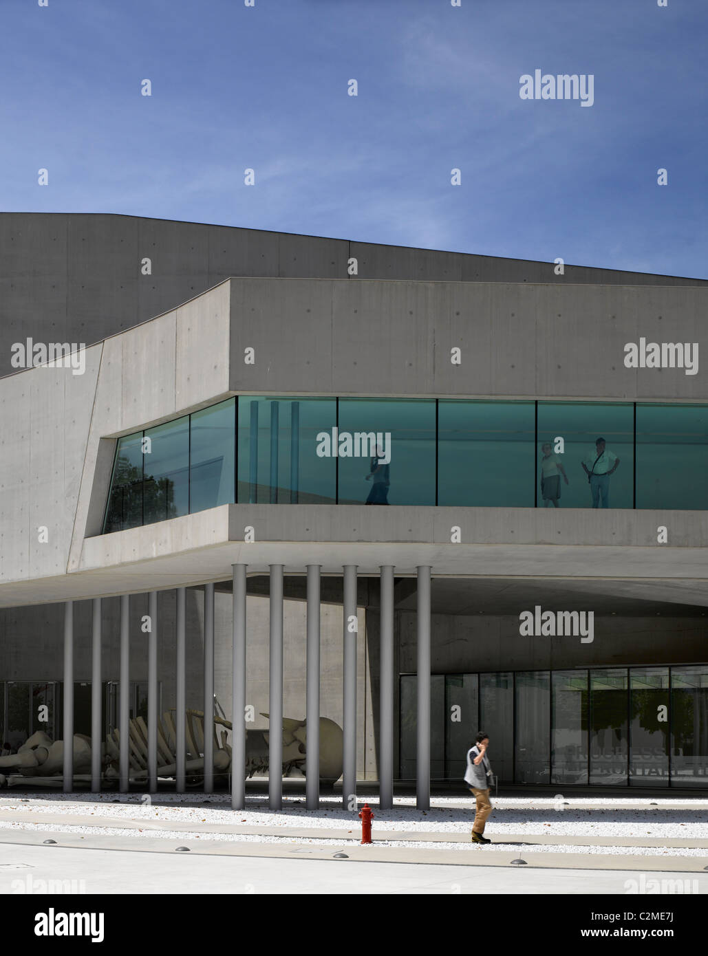 Cantilever elevation at the MAXXI, National Museum of 21st Century Arts, Rome. - Stock Image