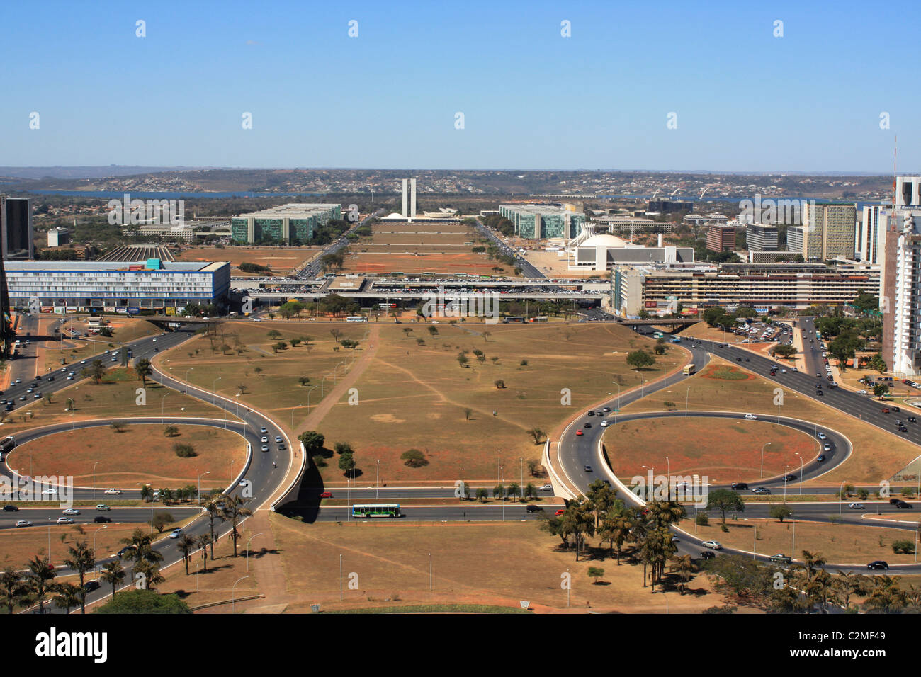 Aerial View, Brasilia. - Stock Image