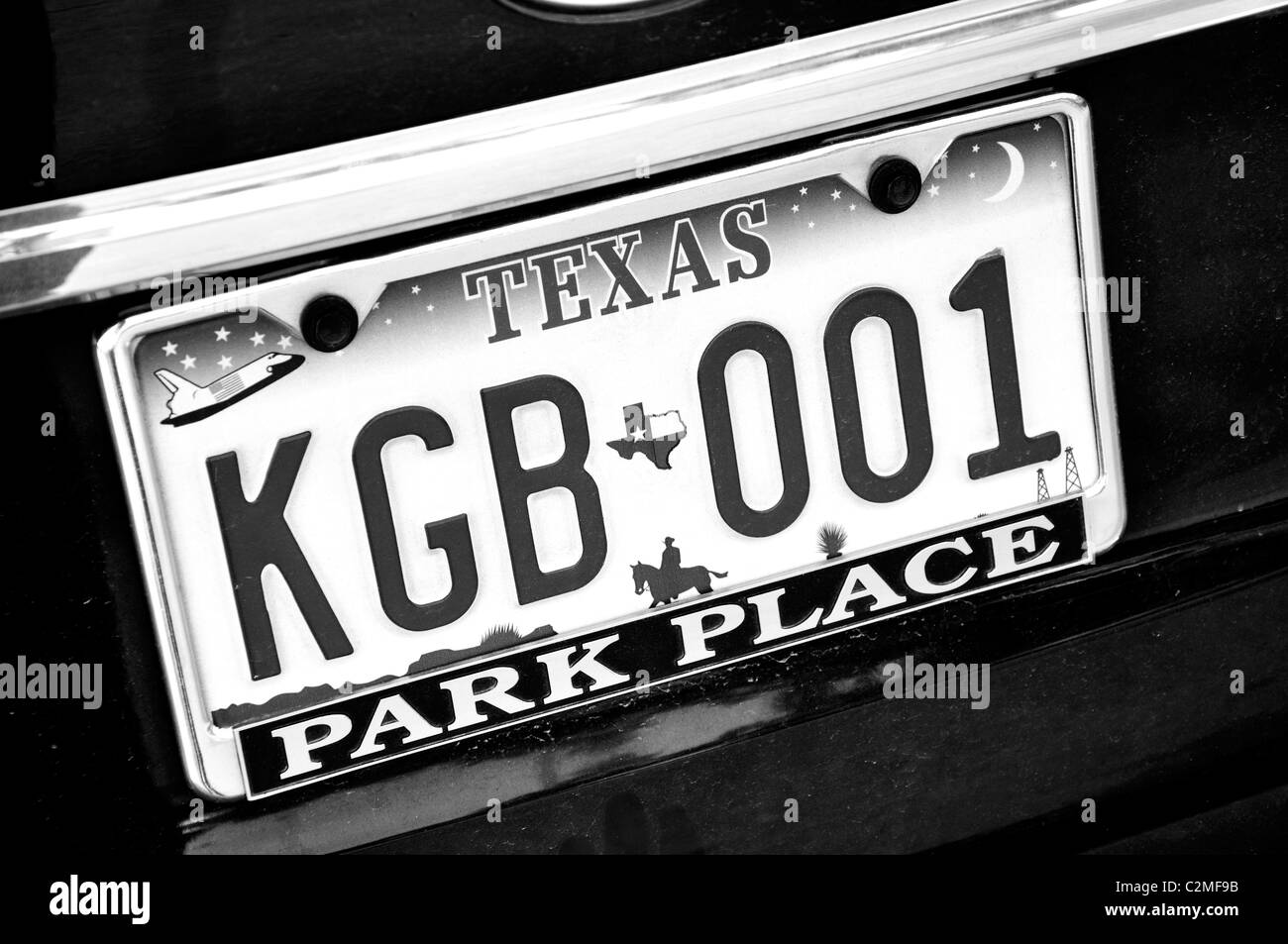 Texas license plate - Stock Image