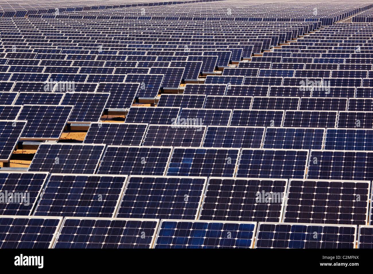 Solar Energy Panels, San Roque, Cadiz, Spain - Stock Image
