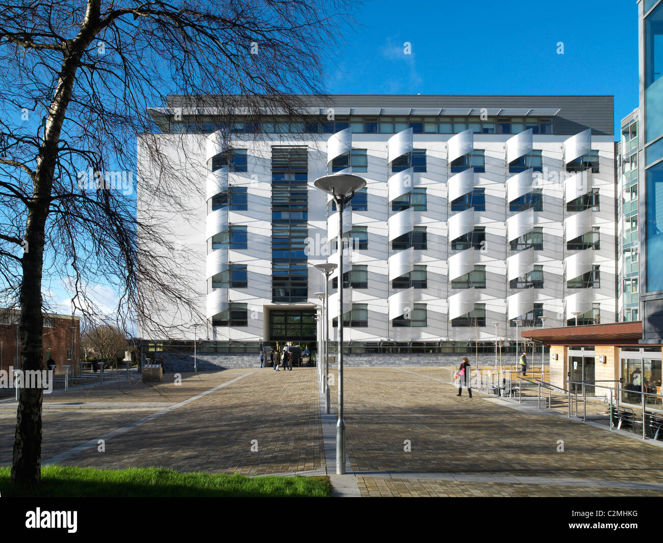 Exterior elevation, James Square Development University of Plymouth, Plymouth. - Stock Image