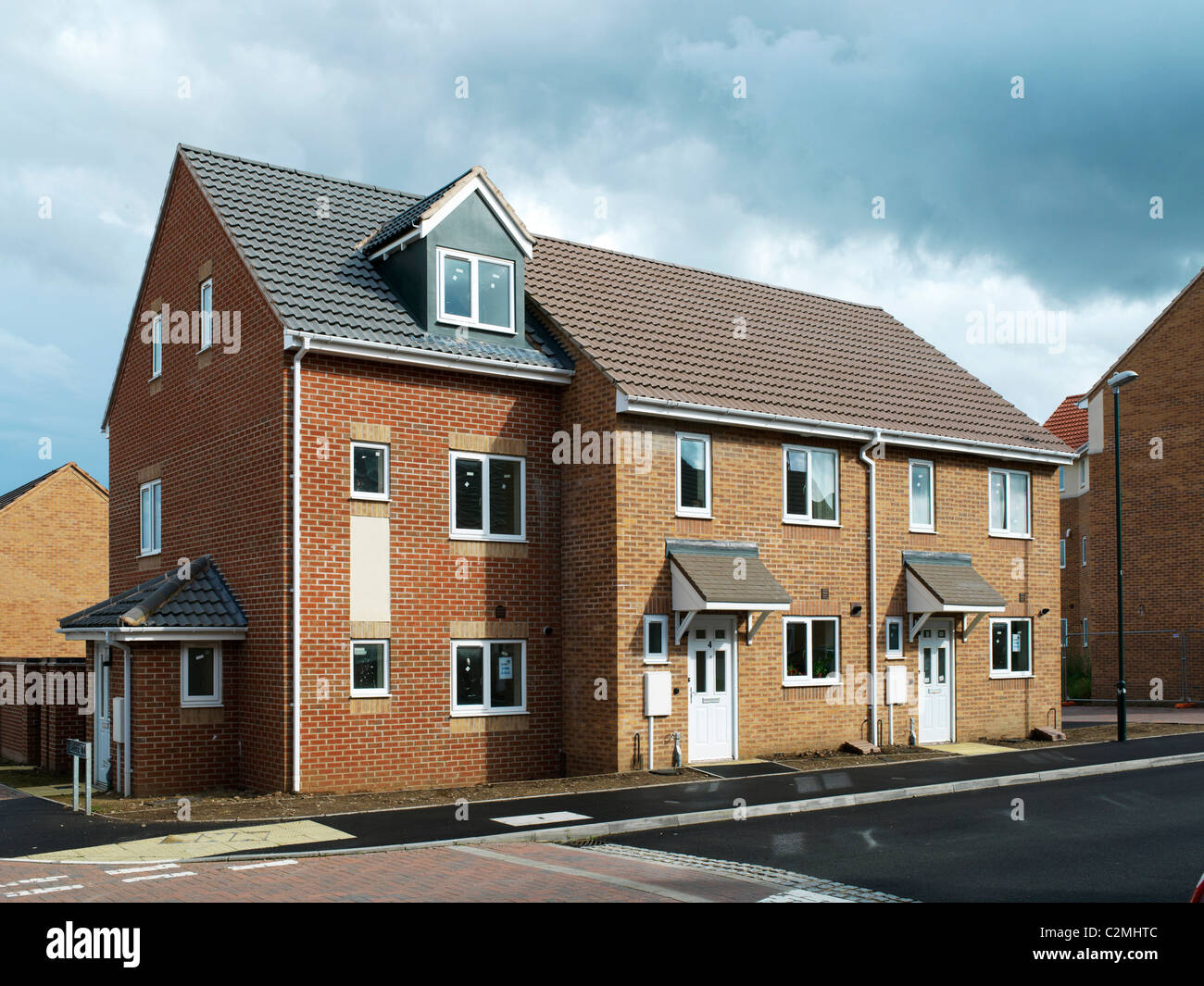 Liberty Park, Coventry. New build housing estate by Wates Developments at Liberty Park in Coventry. This new estate - Stock Image