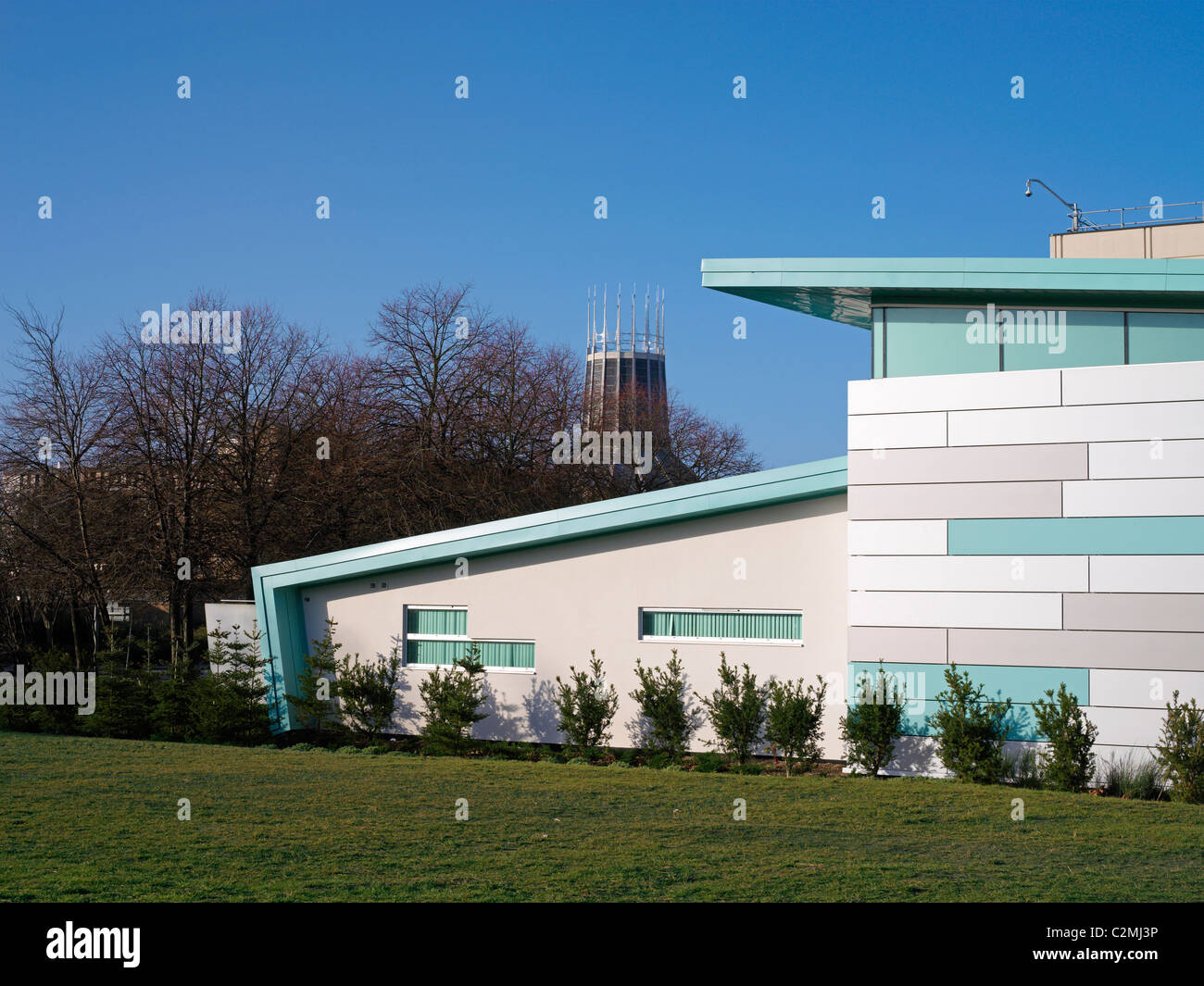 University of Liverpool New NMR Facility, Liverpool. The new NMR Facility for Structural Biology is a purpose built - Stock Image