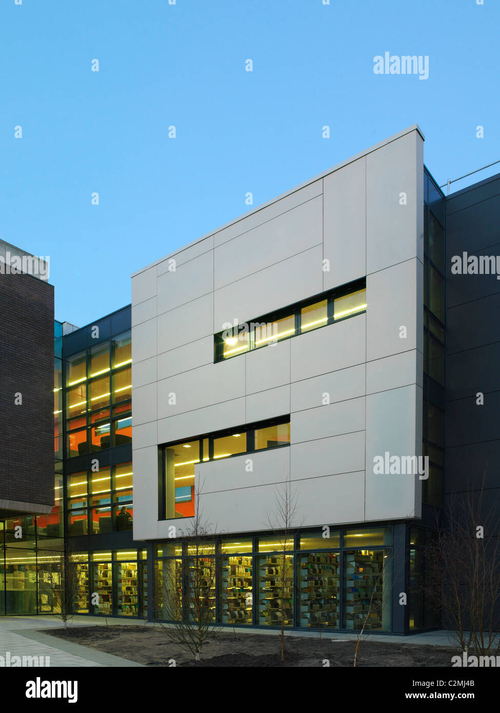 University of Liverpool Senate House Sydney Jones Library, Liverpool. New library for University of Liverpool - Stock Image