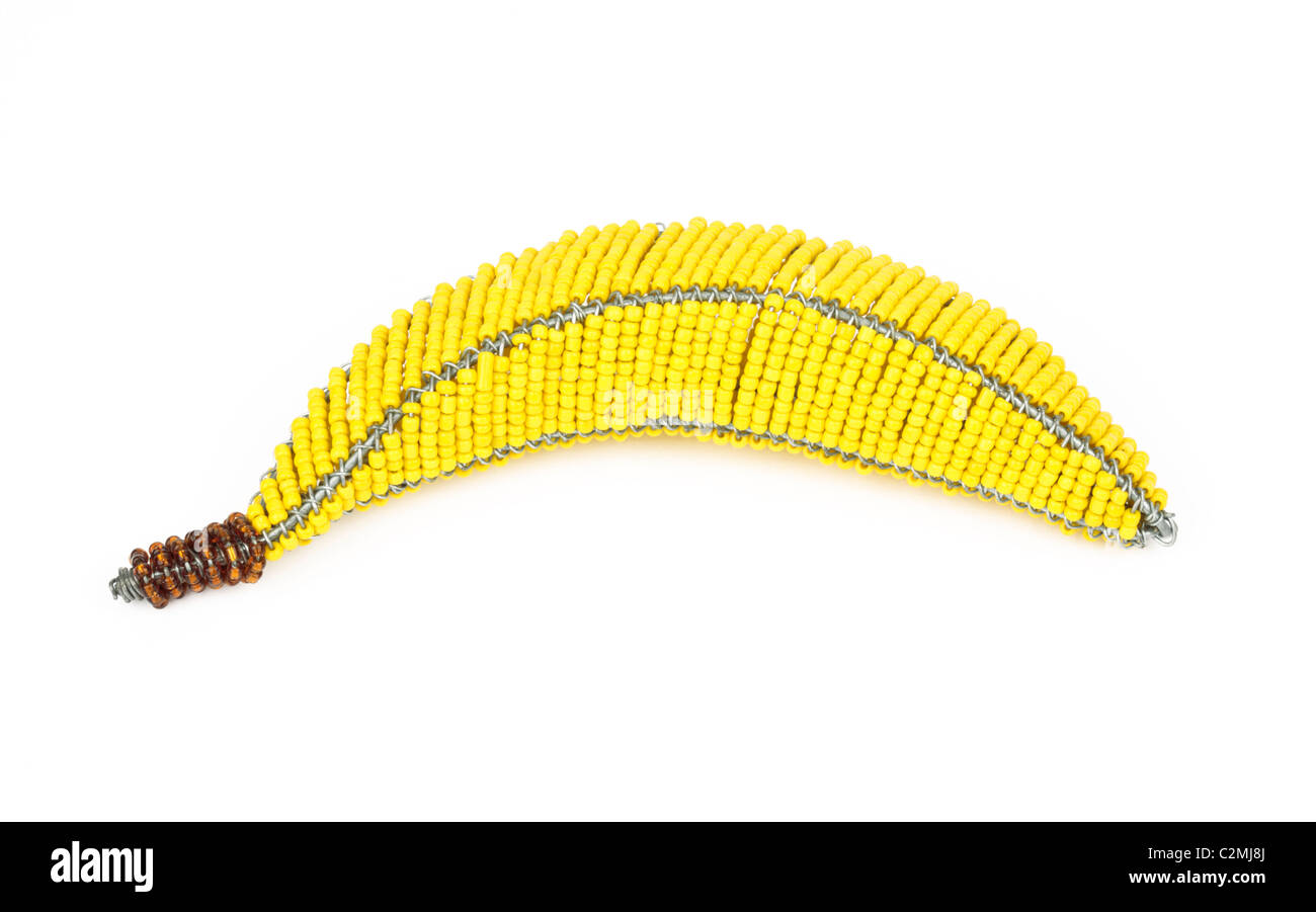 Wire Banana Cut Out - Stock Image