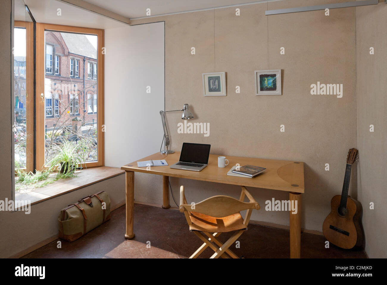 Home office at Zero Carbon House - Stock Image