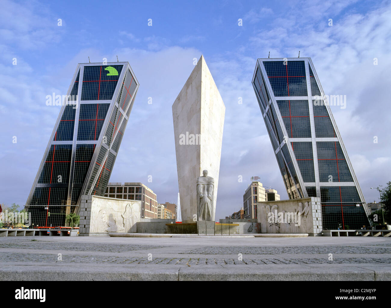 Madrid Plaza Castilla The Monument For Jose Calvo Sotero And The